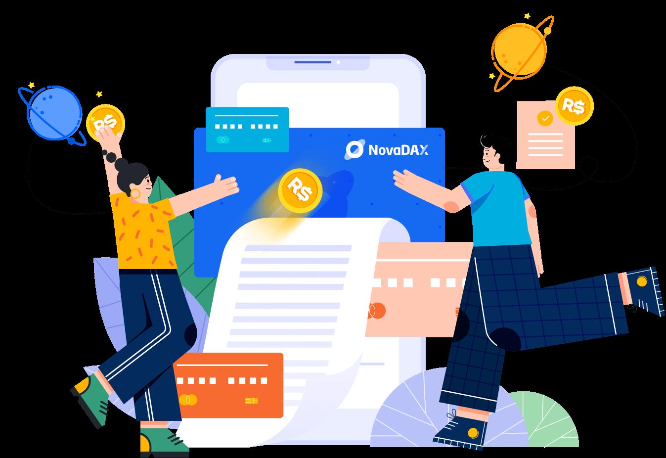 Transferência com taxa zero entre amigos e familiares - Cartão NovaDAX