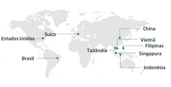 Banner mapa do layout global da NovaDAX