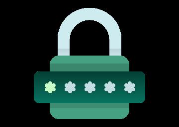 Ícone segurança no login
